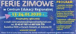 Akcja Zima 2020 w Centrum Edukacji Regionalnej w Żorach