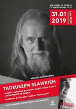 Spotkanie z profesorem Tadeuszem Sławkiem w bibliotece
