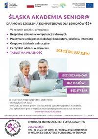 Śląska Akademia Seniora - spotkanie rekrutacyjne