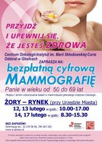 Bezpłatne badanie mammograficzne na żorskim rynku