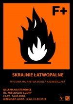 Skrajnie łatwopalne - wystawa Wojciecha Kazimierczaka w galerii żorskiego kina